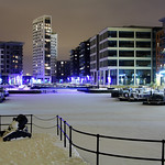 Clarence Dock, Leeds in Snow