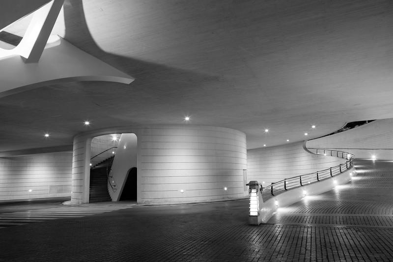 Under the Terraza L'Umbracle, Valencia
