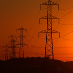 Townville Pylons at Sunset