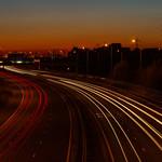 Ferrybridge - Traffic Trails on M62, 28-9-2011 (IMG_3780) 4k