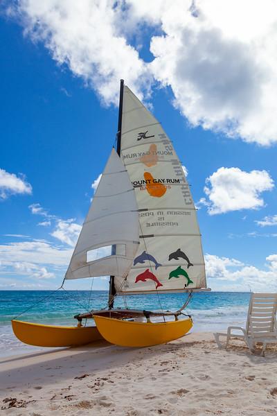 Barbados - Sailing Boat on Maxwell Beach, 22-11-2011 (IMG_5752) 4k