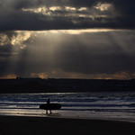 Watergate Bay Storm Surfer