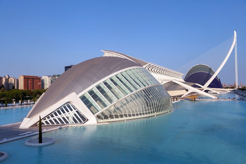 Valencia - IMAX, Museo de las Ciencias Príncipe Felipe, Pont l'Assut de l'Or & Agora, 28-7-2011 (IMG_2804) 4k