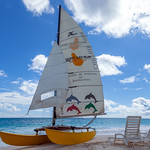 Barbados - Sailing boat on Maxwell Beach, 22-11-2011 (IMG_5750) 4k