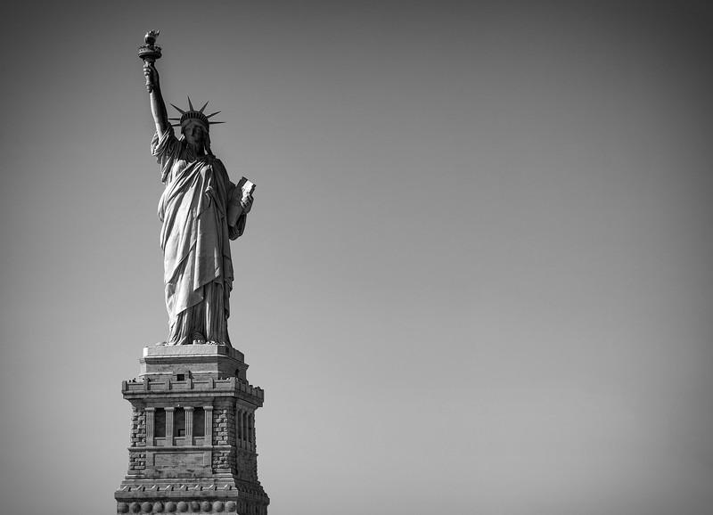 Statue of Liberty, 6-10-2011 (IMG_4327) B&W 4k