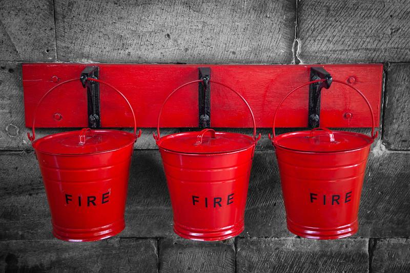 Pickering - Fire Buckets at Pickering station, 5-8-2011 (IMG_3147) 4k