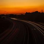 Ferrybridge - Traffic Trails on M62, 28-9-2011 (IMG_3760) 4k