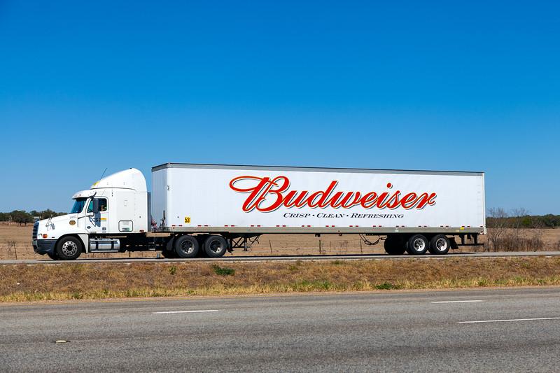 Goddings, Texas - Budweiser lorry, 3-10-2011 (IMG_3849) 4k