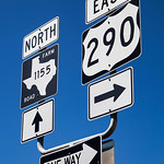Chappel Hill, Texas - Cross Roads 290 & 1155 sign, 3-10-2011 (IMG_3826) 4k