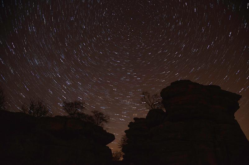 Brimham Rocks Star Trail