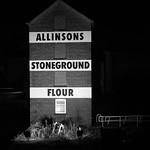 Castleford - Allinson's Flour Mill Building, 27-10-2012 (IMG_0371) Allinsons B&W 4k