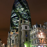 The Ghurkin & St. Andrew Undershaft Church,  Aldgate