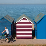 Herne Bay Beach Huts & Cyclist, 4-9-2012 (IMG_9704) 4k