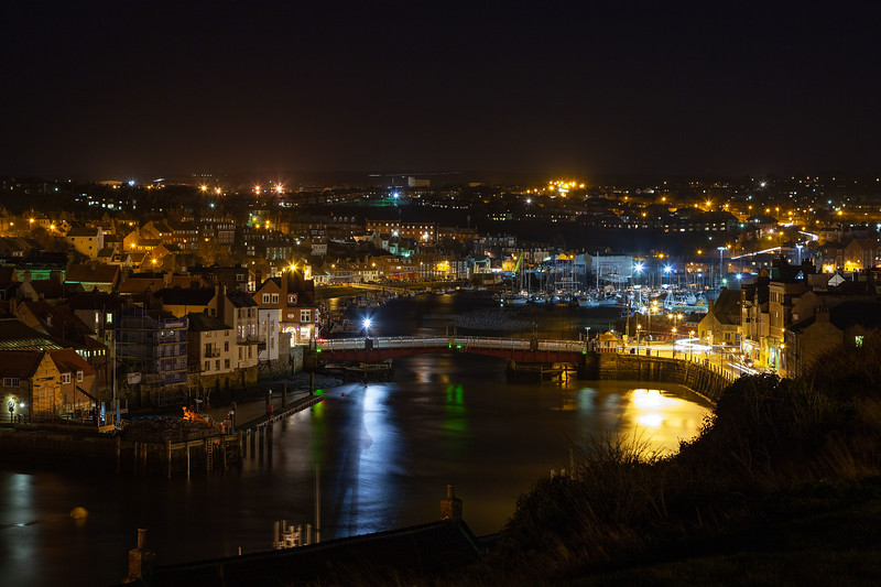 Whitby Harbour at Night, 21-1-2012 (IMG_6453) 4k