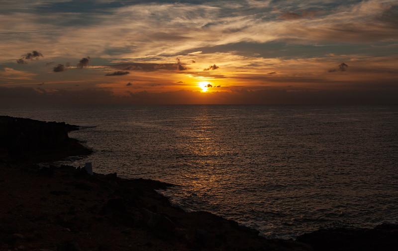 Sunrise over Castillo Caleta de Fuste, Fuerteventura, 14-11-2012 (IMG_0505) LR 4k