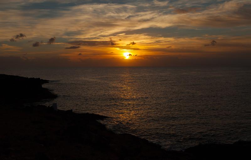 Sunrise over Castillo Caleta de Fuste, Fuerteventura, 14-11-2012 (IMG_0505) 4k