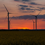 Lissett Wind Farm at Sunset