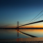 The Humber Bridge, Sunset and Moon Rise