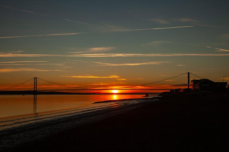 Humber Bridge Sunset, 10-11-2013 (IMG_6895) LR 4k