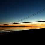 The Humber Bridge, Sunset