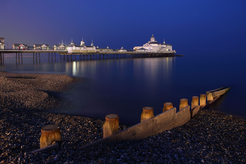 Eastbourne Pier & Groyne at night, 7th May 2013