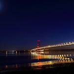 The Humber Bridge Under Moonlight