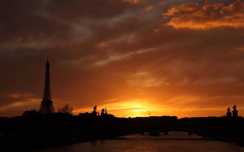 River Seine at Sunset