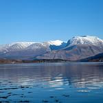 Ben Nevis behind Loch Eil, 26-2-2013 (IMG_1688) 4k