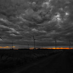 Lissett Wind Farm - Moody Sunset