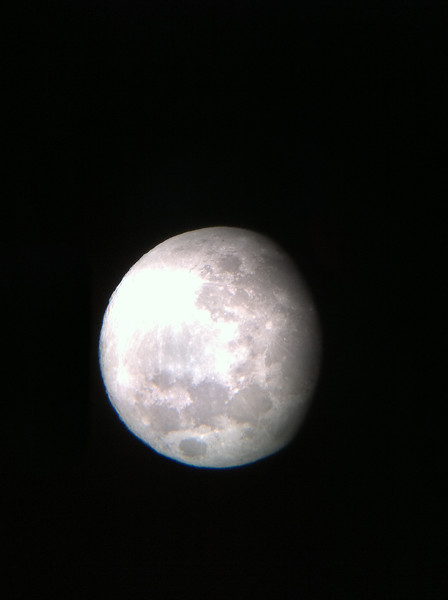 Moon over Newquay (Through Telescope)