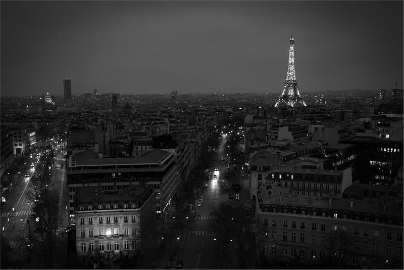 Eiffel Tower and Avenue d'lena, Paris