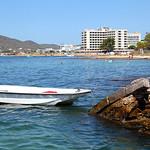 Dinghy in San Antonio Bay, Ibiza
