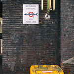London - Waterloo Sign & Grit Bin, 18-1-2014 (IMG_7470) Analog Efex Pro 2 - Classic Camera 7 4k
