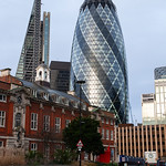 Sir John Cass's Foundation Primary School, Aldgate with The Gherkin & Leadenhall Building