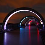 Falkirk Wheel At Night