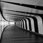 Kings Cross St Pancras One Light Tunnel, 17-2-2015 (IMG_9564) B&W 4k