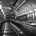 Bank Underground Escalator, 10-10-2015 (IMG_1322) Nik CEP4 - Bleach Bypass 4k