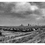 South Gare Huts & Redcar Steelworks, 4-10-2015 (IMG_0786) Nik SEP2 - Full Structure & Contrast Border 4k
