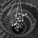 London - Heal's Stairs (Bottom), 10-10-2015 (IMG_1158) B&W 4k