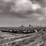 South Gare Huts & Redcar Steelworks, 4-10-2015 (IMG_0786) Nik SEP2 - Full Structure & Contrast 4k