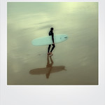 Saltburn Surfer Reflection, 4-10-2015 (IMG_0597) Poloroid Frame 4k