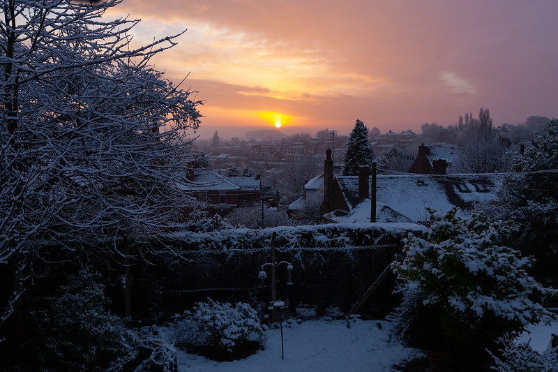 Pontefract Sunrise from Dark Lane