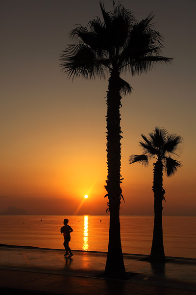 Altea Sunrise & jogger, 07:36