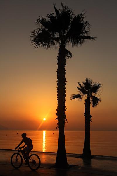 Altea Sunrise, & Cyclist, 07:36