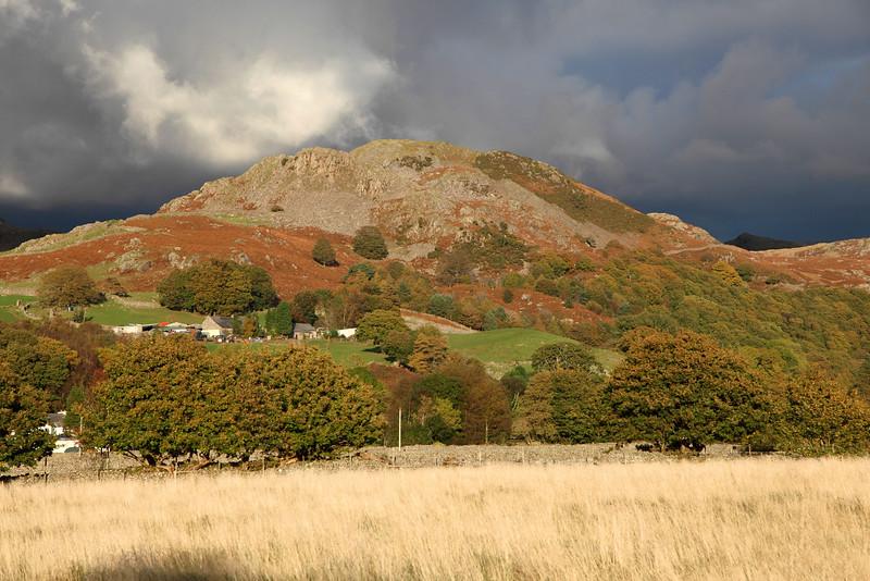 Great Barrow with Black Sky