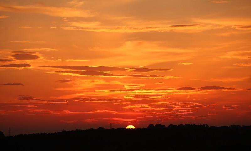 Sunset over Grimethorpe