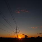 Shafton Pylons at Sunset