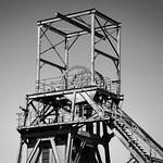 Barnsley Colliery Headstocks, 21-4-2019 (IMG_6552) B&W 4k