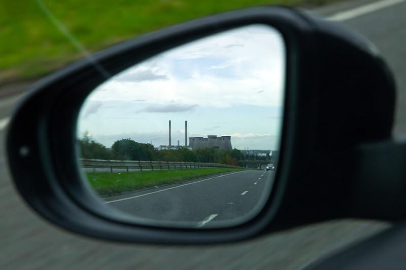 Ferrybridge Power Station in Wing Mirror, 12-10-2019 (IMG_3489) 4k