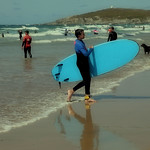 Fistral Beach Surf Students, 12-8-2019 (IMG_0996) Nik CEP4 - Poloroid 4k